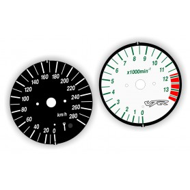 Honda VFR 800 fi 1998-2001 Replacement dial - converted from MPH to Km/h