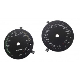 Audi A3 8V E-TRON - Replacement tacho dials - converted from MPH to Km/h