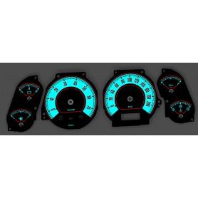Jeep Grand Cherokee 1999 -2001 Design 2 PLASMA TACHO GLOW GAUGES TACHOSCHEIBEN DIALS SPEEDO