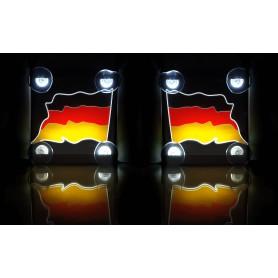 Tablice LED TIR BUS z flagą kraju 15x15cm KOLOROWA Komplet 2 sztuk