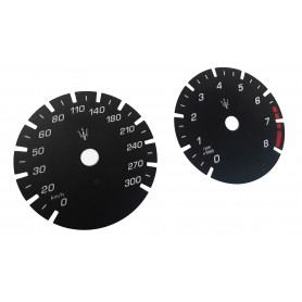 Maserati Levante - Replacement dial - converted from MPH to Km/h