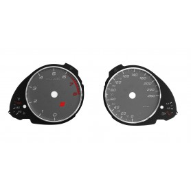 Audi S5 Replacement tacho dial - converted from MPH to Km/h