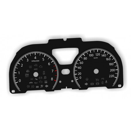Nissan Note - Replacement dial - converted from MPH to Km/h