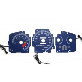 SPOON design glow gauges dials plasma dials kit tacho gl Honda Civic 1992-1995