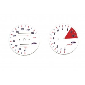 Ktm Duke II 640 - replacement tacho dials from MPH to km/h
