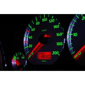 Volkswagen Polo 6n Design 6 plasma tacho glow gauges tachoscheiben dials
