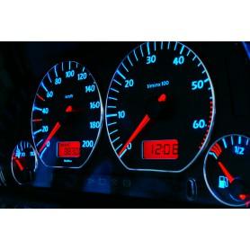 Volkswagen Polo 6n Design 3 plasma tacho glow gauges tachoscheiben dials