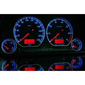 Volkswagen Polo 6n Design 2 plasma tacho glow gauges tachoscheiben dials
