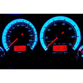 Volkswagen Polo 6n Design 1 plasma tacho glow gauges tachoscheiben dials