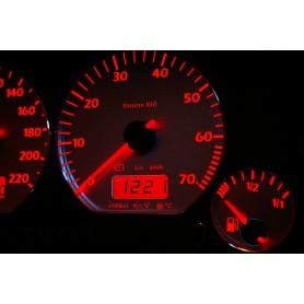 Volkswagen Polo 6n Design 4 plasma tacho glow gauges tachoscheiben dials