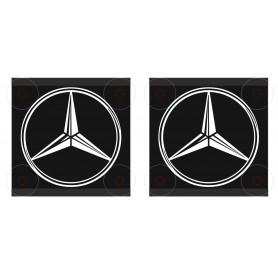 2x MERCEDES Small Corners Light Boards LKW 15x15cm