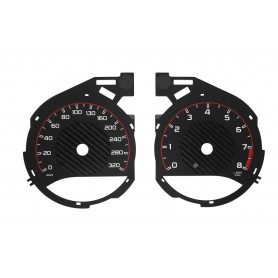 Mercedes C Class W205 C63 COMPATIBLE WITH AMG - Replacement dial MPH to km/h