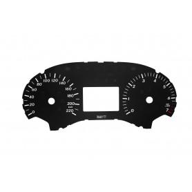 Mercedes Vito 447 - Zamiennik tarcz licznika z MPH na km/h