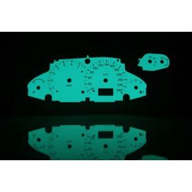 Ford Focus MK1 wersja ST świecące tarcze licznika INDIGLO