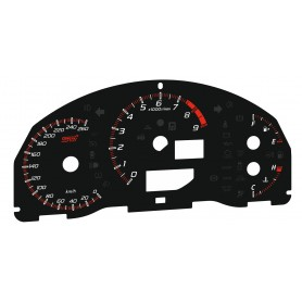 Subaru BRZ STI - zamiennik tarcz licznika z MPH na km