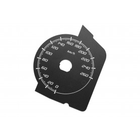 Fiat 124 Spider Abarth - Replacement dial - converted from MPH to Km/h