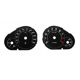 Maserati GranCabrio - Replacement tacho dial - converted from MPH to Km/h