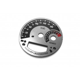 Harley Davidson Road King, Heritage, Softail, Deluxe, Dyna, Custom - REPLACEMENT DIAL - CONVERTED FROM MPH TO KM/H