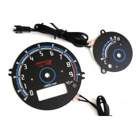 Yamaha TDM 900 plasma tacho glow gauges tachoscheiben dials
