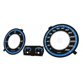 Volkswagen Golf MK5, Jetta, Touran Design 2 plasma tacho glow gauges tachoscheiben dials