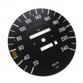 Mercedes W107 - Replacement dial - converted from MPH to Km/h