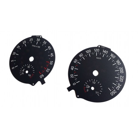 Skoda Octavia 3 - Replacement tacho dial - converted from MPH to Km/h