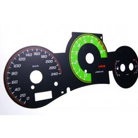 Toyota MR2 - 3gen. - design 3 plasma tacho glow gauges tachoscheiben dials