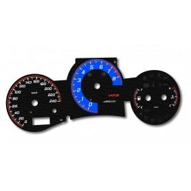 Toyota MR2 - 3gen. - design 2 plasma tacho glow gauges tachoscheiben dials