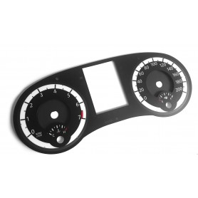 Dodge Grand Caravan - Replacement tacho dials, counter faces gauges - converted from MPH to Km/h