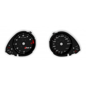 Audi A4 B8 RS4 - Replacement tacho dial - converted from MPH to Km/h