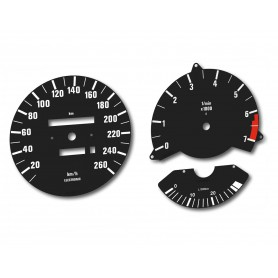 BMW 635 - Replacement tacho dials, counter gauges faces - converted from MPH to Km/h