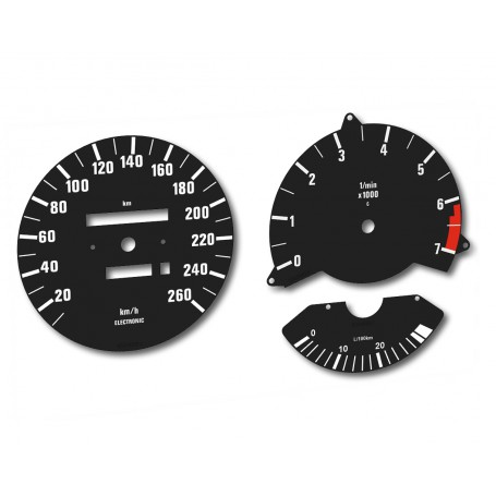BMW 635 - Replacement tacho dial - converted from MPH to Km/h