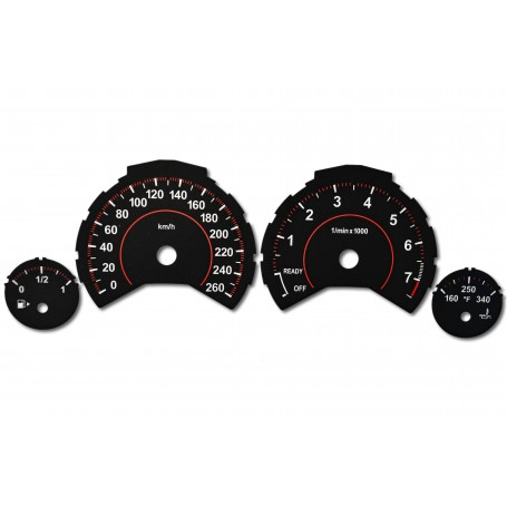 BMW F25, X3 - tacho dials converted from MPH to Km/h