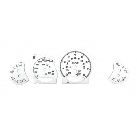 Porsche Panamera GTS - Replacement tacho dials - converted from MPH to Km/h