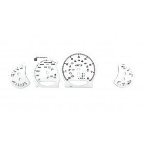 Porsche Panamera GTS - tarcze licznika, białe zegary zamiennik MPH na km/h