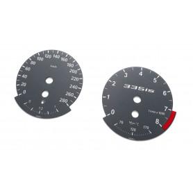 BMW E90 335is - zamiennik tarcze licznika, zegary z MPH na km USA