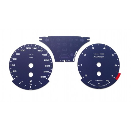 BMW E90, E92, E93 Alpina Replica - Replacement tacho dial