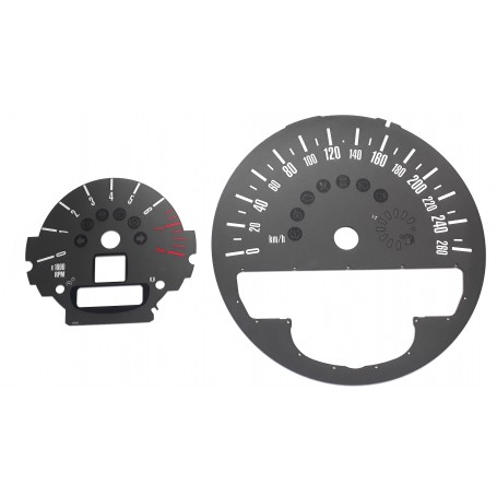 Mini 2 - Replacement dial - grey - converted from MPH to Km/h