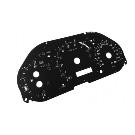Subaru Impreza 2008-14 - replacement tacho dials MPH to km/h