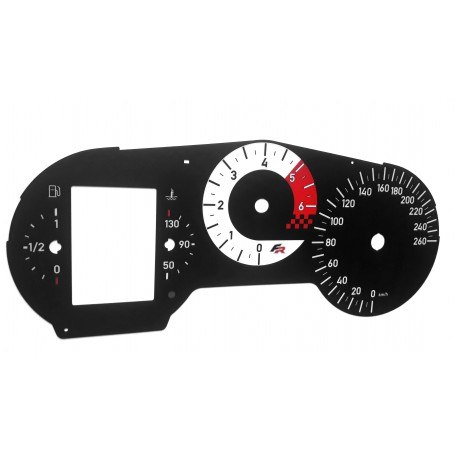 SEAT Leon 2 FR - replacement tacho dials MPH to km/h