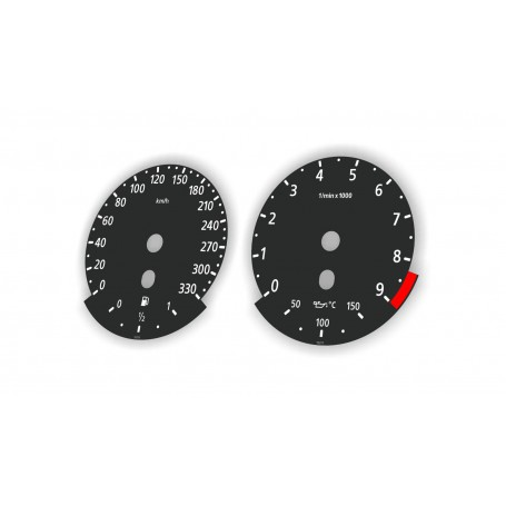 BMW 5 E60 M Version - Replacement tacho dials - converted from MPH to Km/h