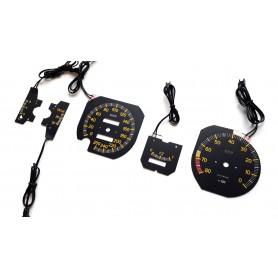 Fiat X1/9 INDIGLO plasma tacho glow gauges tachoscheiben dials