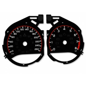 Mercedes C Class W205 - Replacement tacho dials - converted from MPH to Km/h