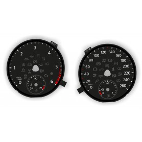 Volkswagen Transporter T6 - Replacement tacho dials - converted from MPH to Km/h