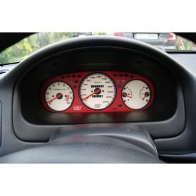 Honda Civic 1996-2000 - czerwona maskownica licznika