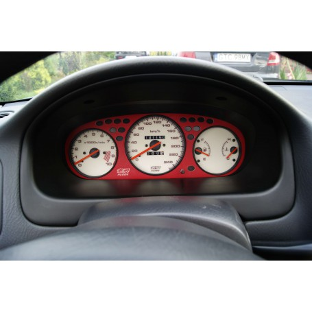 Honda Civic 1996-2000 - RED gauge cover
