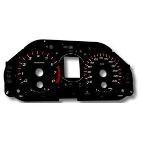 Subaru Forester 2011-2013 tarcze licznika zamiennik, zegary z MPH km/h