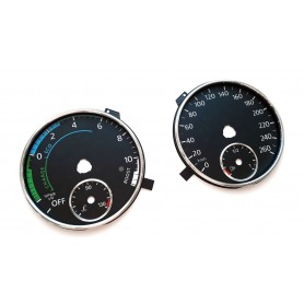 Volkswagen Jetta Hybrid - replacement tacho dials, counter faces gauges MPH to km/h