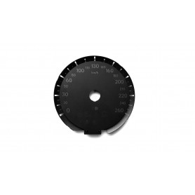 Lexus RX 450 H  - Replacement tacho dial, counter faces, gauges - converted from MPH to Km/h