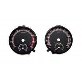 Skoda Octavia 3 RS od 2016 - zamiennik tarcz licznika, zegary z MPH na km/h